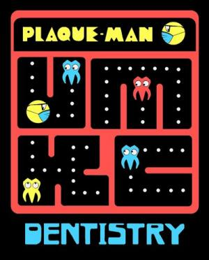 Plaque man is a fun game and a great tooth pun all in one.