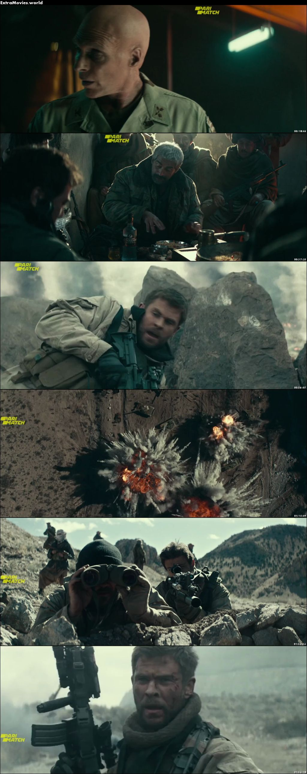12 Strong 2018 Dual Audio Hindi [Unofficial Dubbed] 1080p BluRay