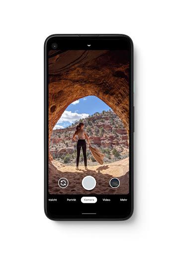 Foto des Pixel 4a mit Kamerafunktion