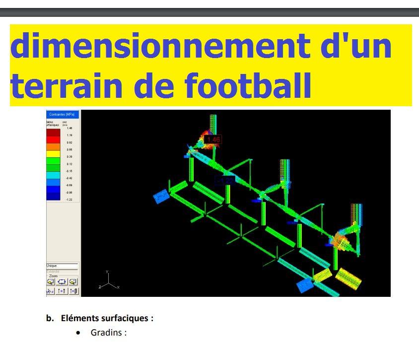 exemple de dimensionnement d 39 un terrain de football rapport de stage cours g nie civil. Black Bedroom Furniture Sets. Home Design Ideas