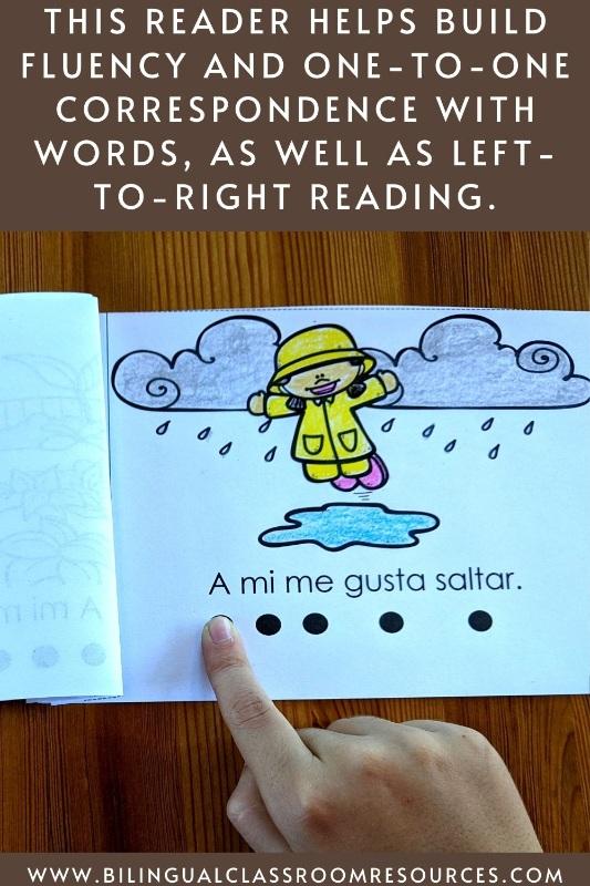 Spanish Emergent Reader, Librito de palabras de uso frecuente