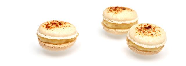 Macarons façon crème brulée
