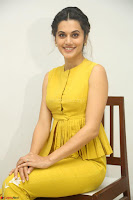 Taapsee Pannu looks mesmerizing in Yellow for her Telugu Movie Anando hma motion poster launch ~  Exclusive 034.JPG