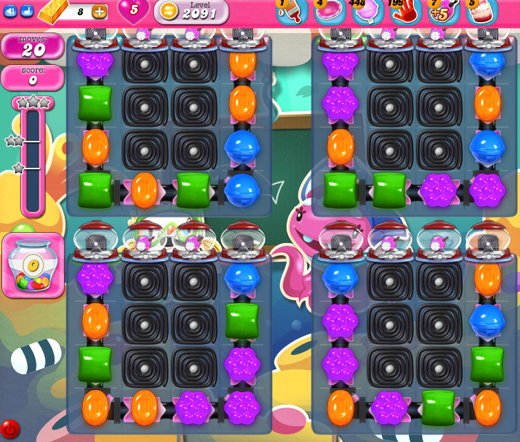 Candy Crush Saga level 2091
