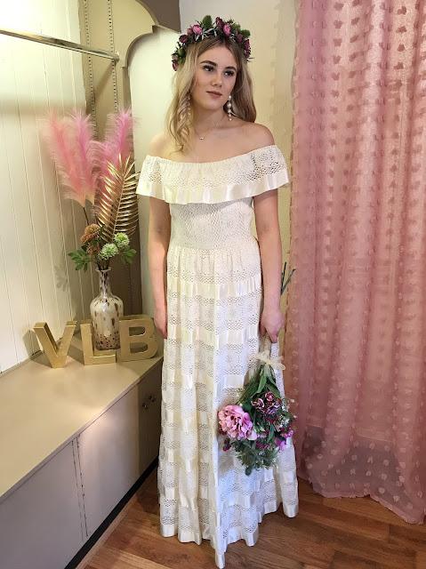 Bohemian eco friendly wedding dress