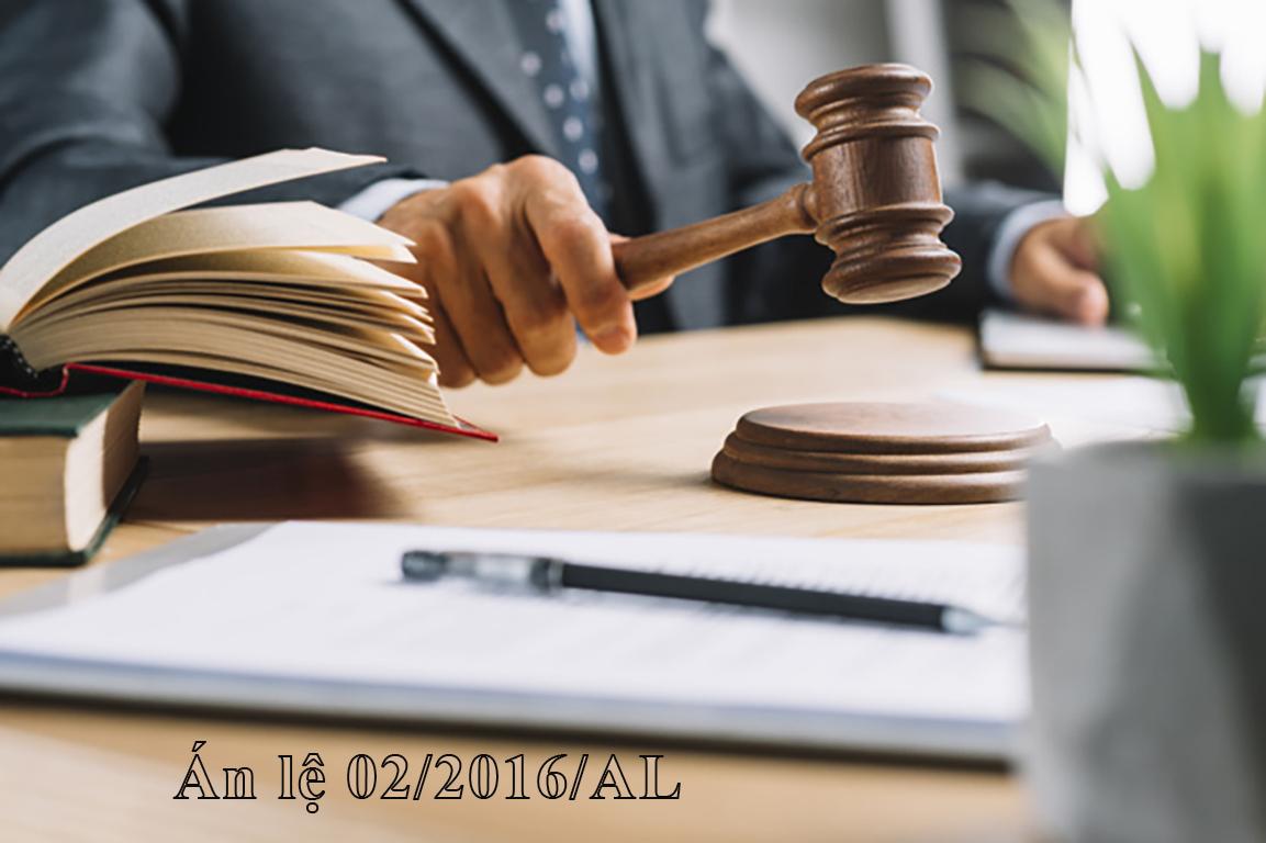 Án Lệ số 02 (02/2016/AL) về vụ án Tranh chấp đòi lại tài sản