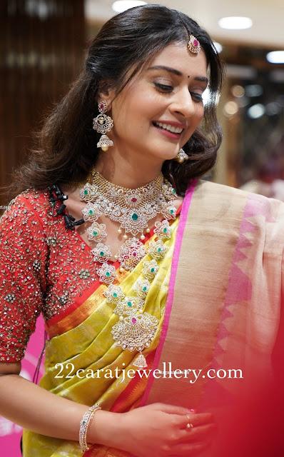 Payal Rajput Diamond Wedding Jewellery