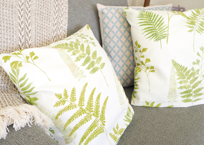 DIY Interiors How to make a botanical cushion close lifestyle shot