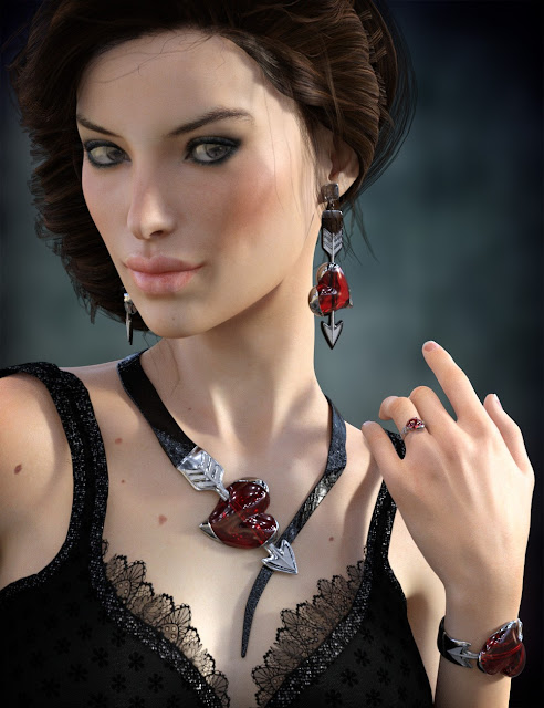Heartstruck Jewelry for Genesis 3 Female