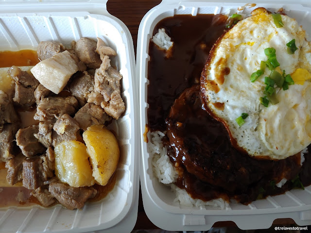 Pork Adobo  and Loco Moco