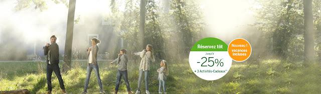 Center Parcs - Réservez tôt et économisez jusqu'à -25% + 3 activités cadeaux