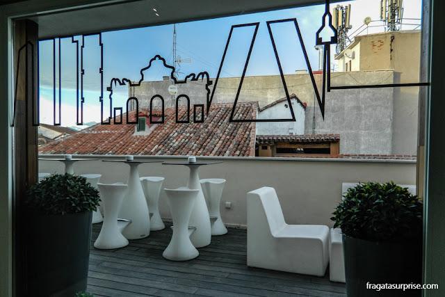 Terraço do Hotel Sidorme Fuencarral 52, no bairro de Chueca, Madri