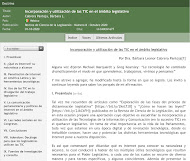 INCORPORACIÓN Y UTILIZACIÓN DE LAS TIC EN EL ÁMBITO LEGISLATIVO