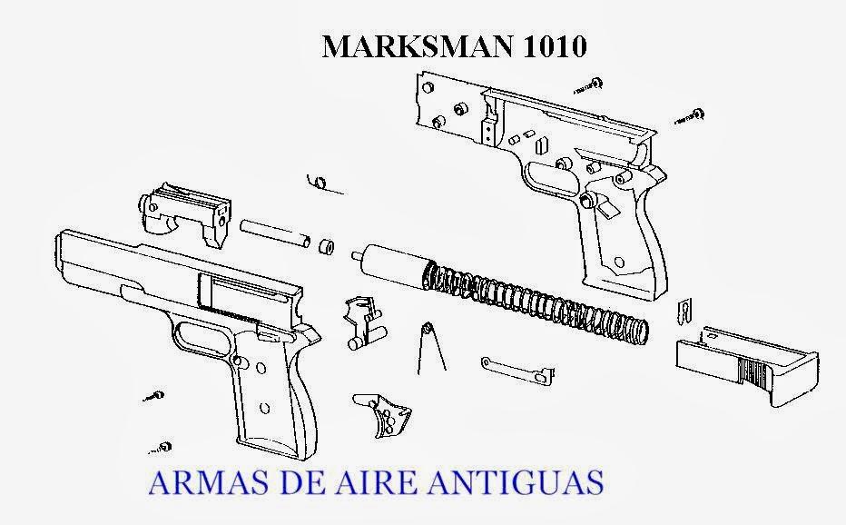 ARMAS ANTIGUAS DE AIRE: PISTOLA MARKSMAN 1010