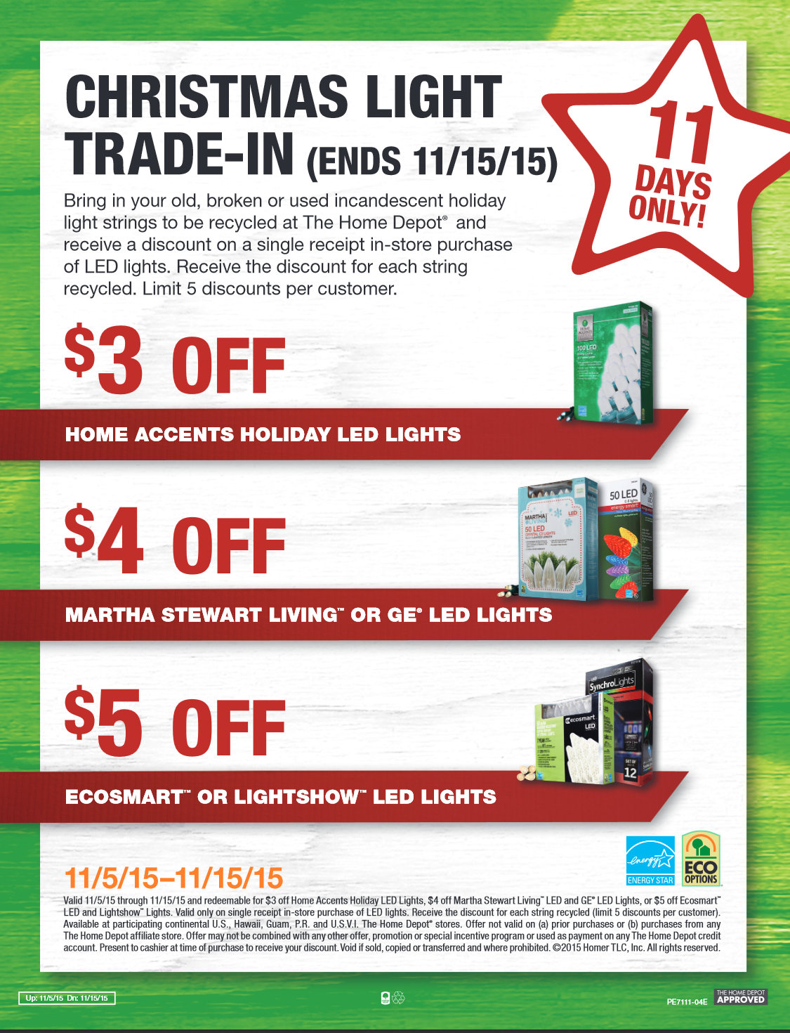 Barbara\'s Beat: Home Depot Christmas Light Trade-In 11/15