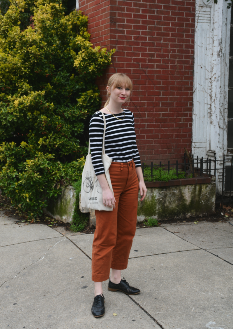 Striped Top and Wide Leg Pants