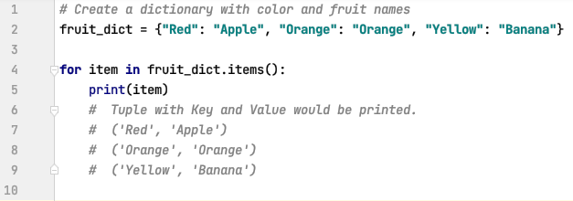 Tuple unpacking with dictionaries in Python