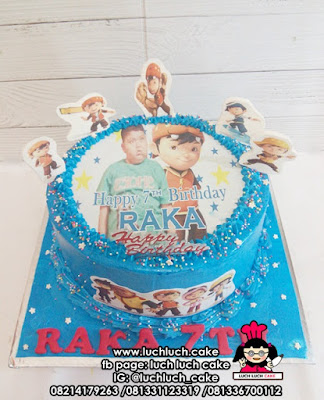 Boboiboy Edible Image Birthday Cake