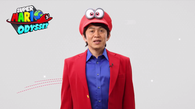 Super Mario Odyssey producer Yoshiaki Koizumi Cappy captured