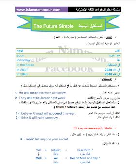 كتاب زمن المستقبل البسيط في اللغة الانجليزية