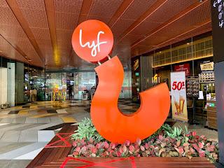Hotel signage at lyf Funan