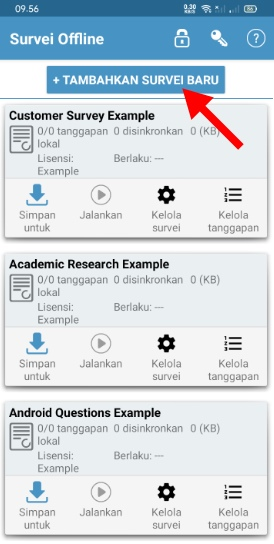 Halaman Aplikasi Survei Offline