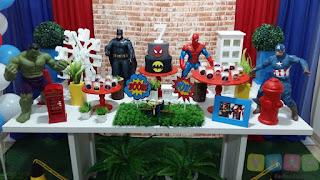 Decoração Super Herois Porto Alegre