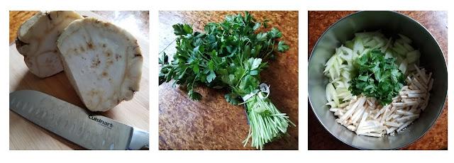 Root and Stem Salad, a delicious celery salad dressed in a lemon vinaigrette.
