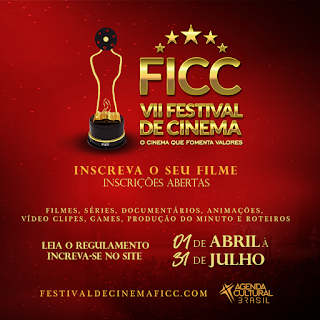 Flyer do Ficc - Festival de Cinema