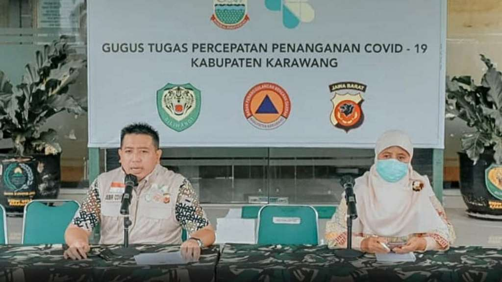 Gugus Tugas Covid-19 Kabupaten Karawang mengumumkan kabar baik dalam penanganan Covid-19