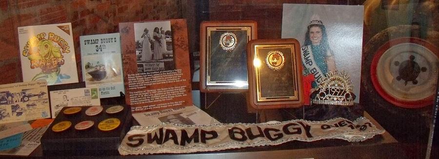 Swamp Buggy Queen 1997, las rarezas de Florida en el museo/estación.