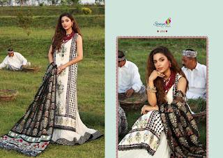 Saniya Trendz Crimson 21 schiffli work pakistani suits