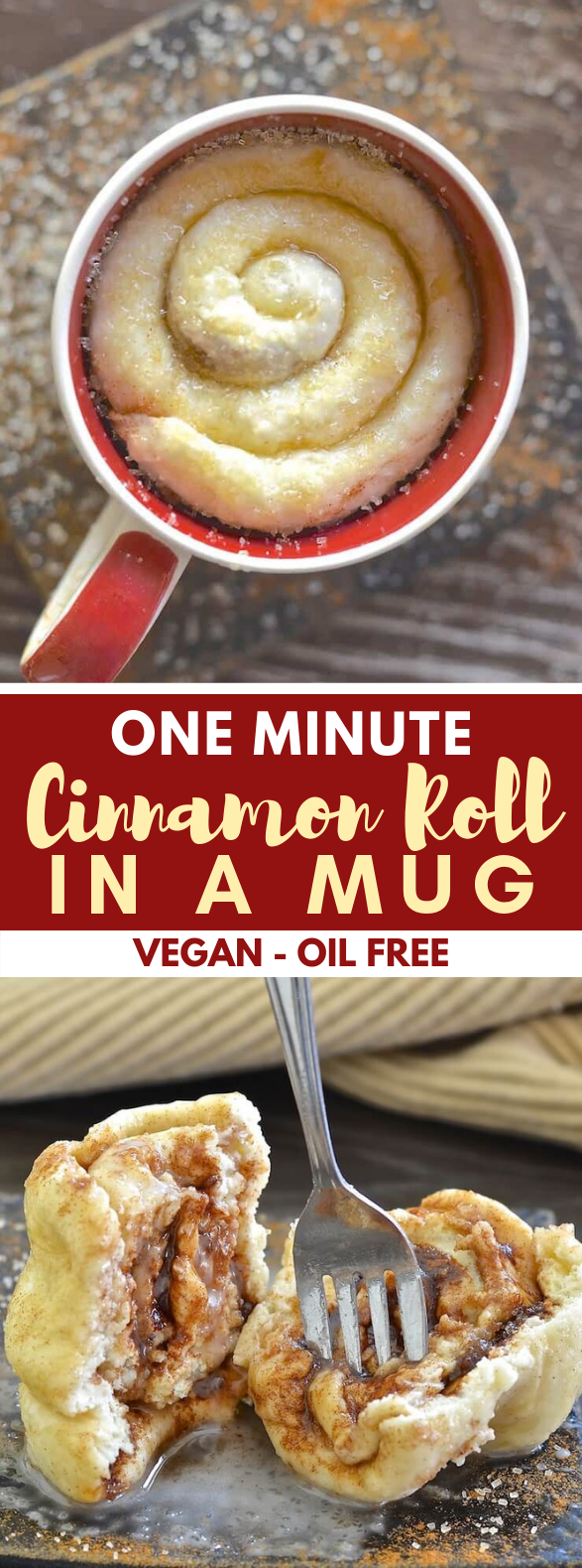 Cinnamon Roll in a Mug #dessert #vegan