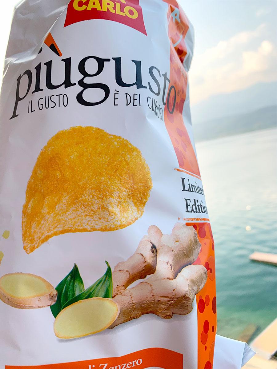 Chips med smak av ingefära