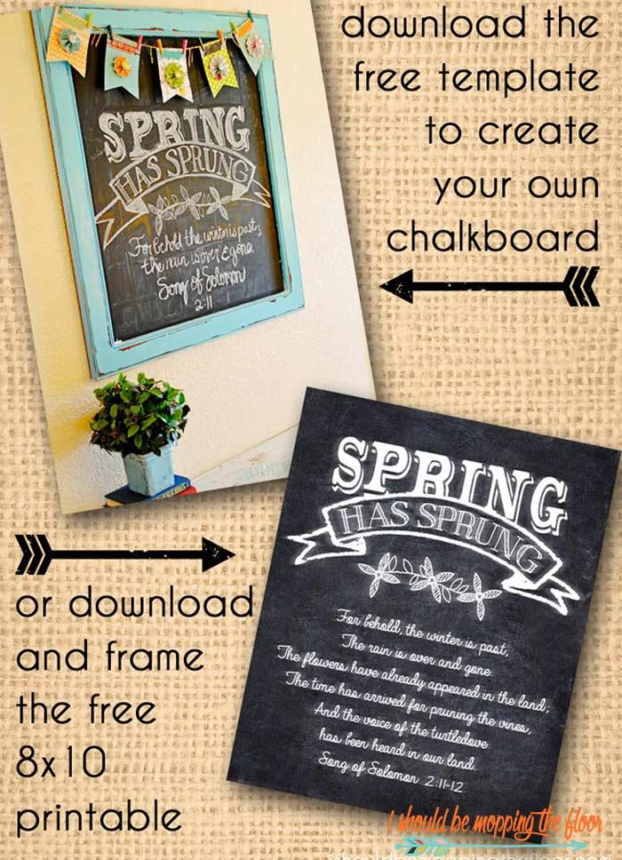 Spring Chalkboard Ideas