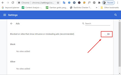 cara menghilangkan pop up di google chrome