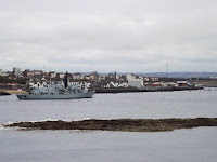 HMS Somerset at the mouth of the Tyne