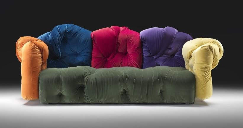 Multi Colored Sofas 2256 Multi Colored Microfiber Fabric