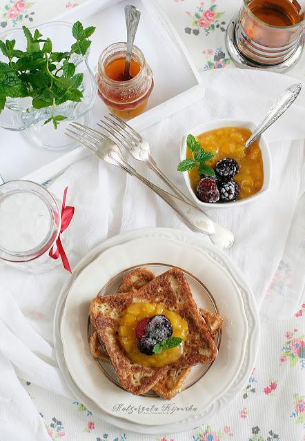 grzanki śniadaniowe przepis, jak zrobić tosty francuskie