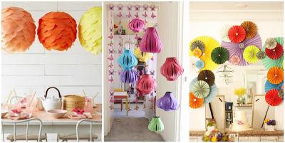 Adornos de papel- decoración-fiestas