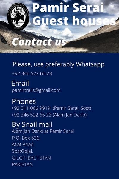 Chapursan Valley, PamirSerai, Alam Jan Dario, Contact, Pin