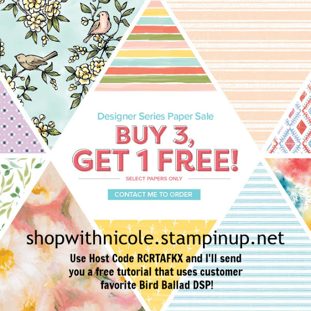 Buy 3, Get 1 Free Designer Series Paper sale with Nicole Steele, The Joyful Stamper