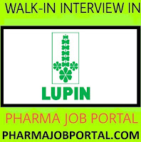 LUPIN LIMITED Walk In Interview Freshers & Experienced Candidates - Diploma, B.E, B.Tech, B.Sc, M.Sc at 25 October