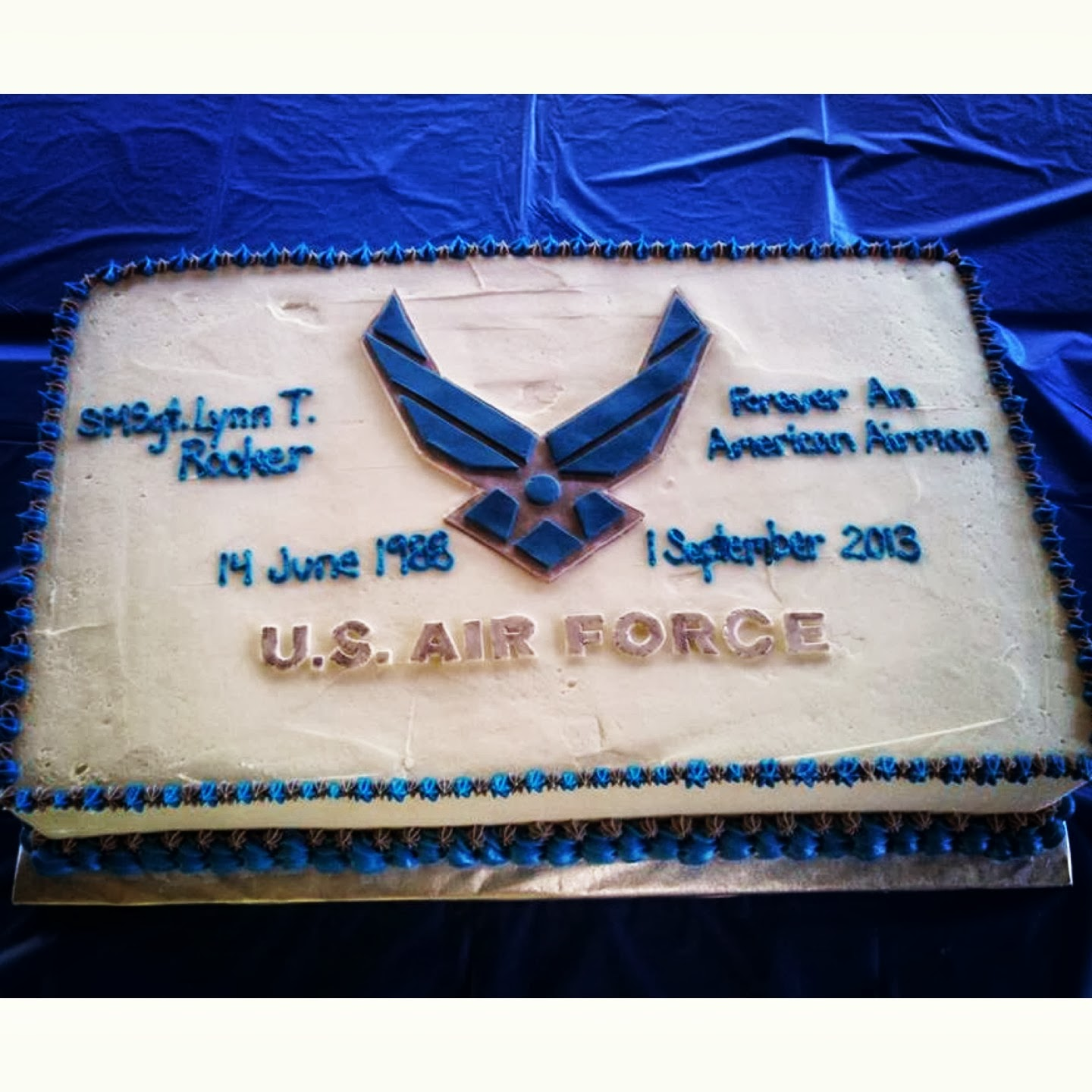 Simply Delicious Cakes Air Force Retirement