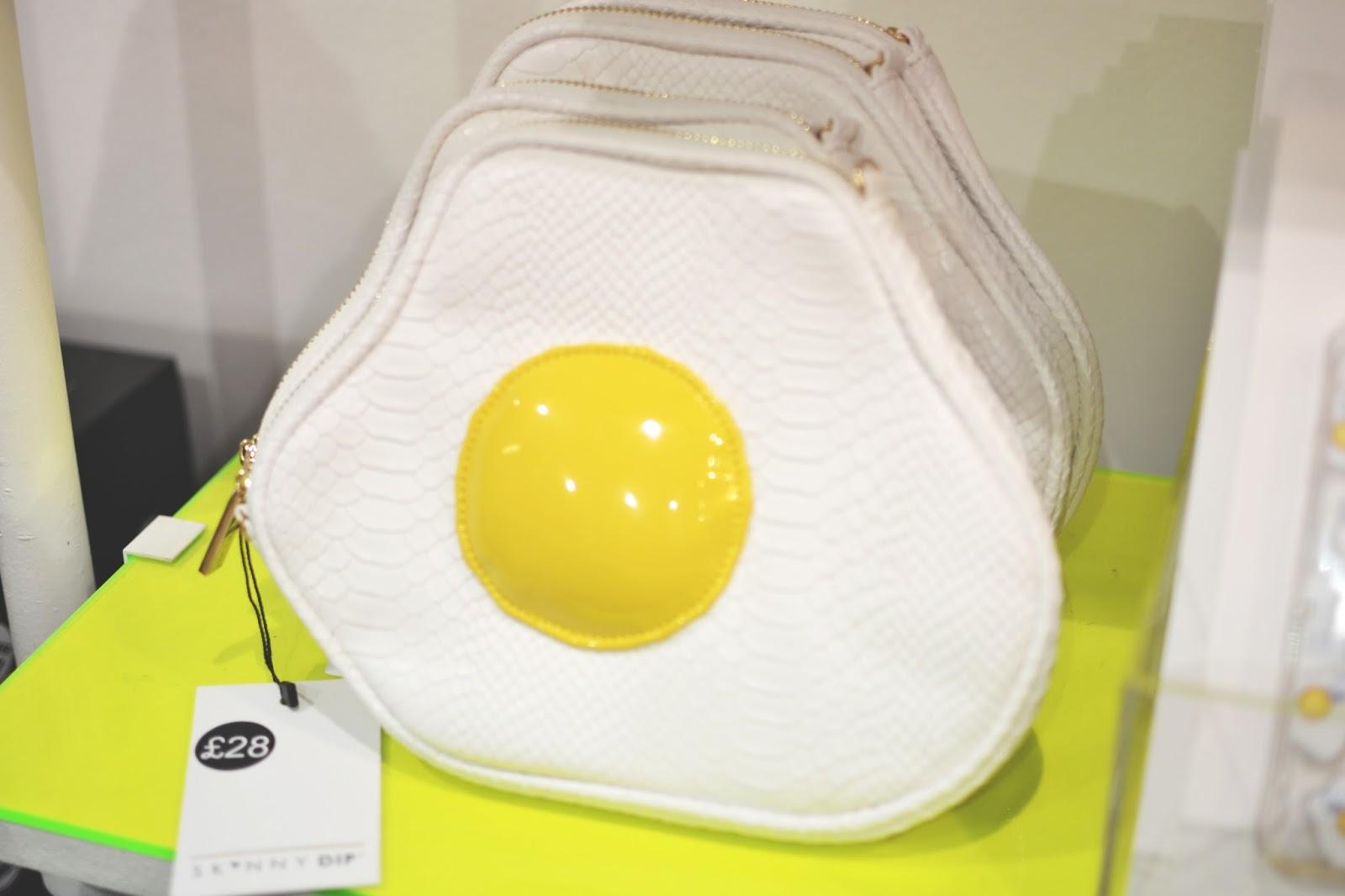 fried egg clutch bag, novelty bags