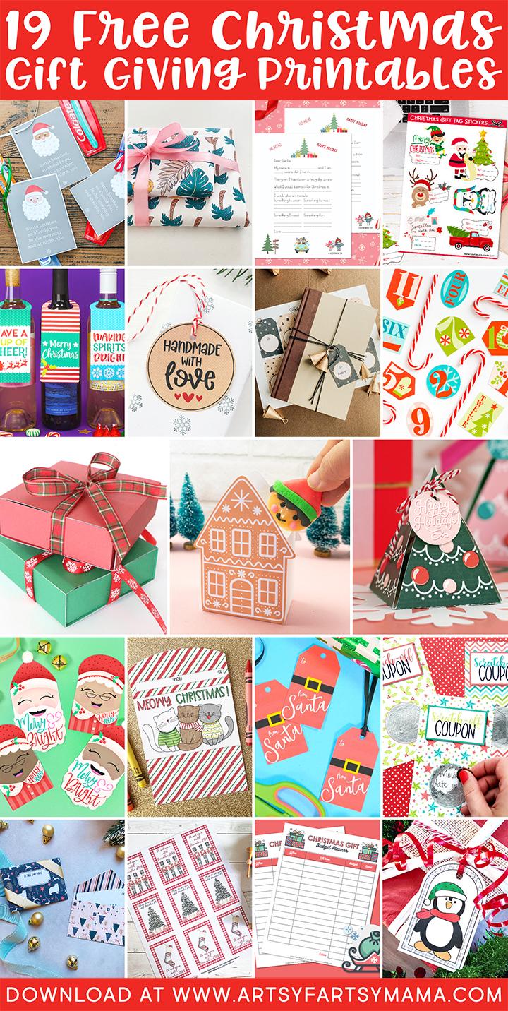 19 Free Christmas Gift Giving Printables