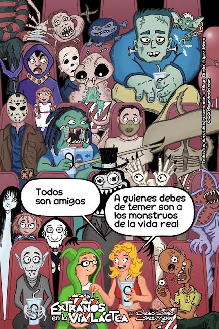 A los monstruos de pelis con ♥...