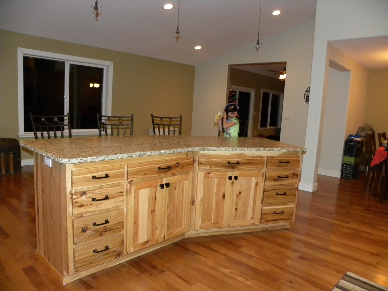 Hickory Shaker Style Kitchen Cabinets Carts Scott River Custom Rustic