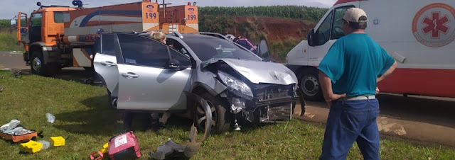 Manoel Ribas: Acidente de trânsito na PR-466