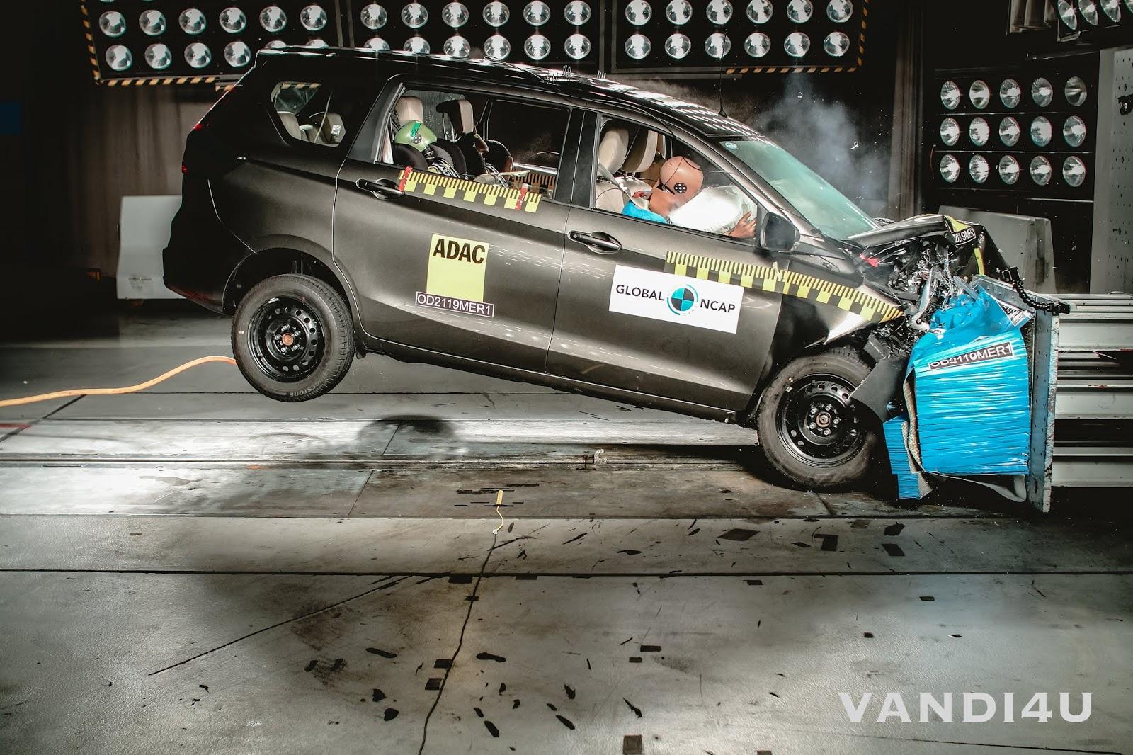 Three star Ertiga and one star Datsun Redi Go in latest Global NCAP crash test results for India | VANDI4U